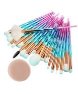 20Pcs Diamond Makeup Brushes Set Powder Foundation Blush Blending Eye sh... - $26.95