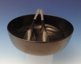 Silver Flutes by Towle Sterling Silver Salad Set and Bowl Mid Century Mod #0085 - $659.00