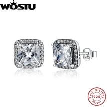 Wholesale 100% 925 Sterling Silver Eternity Elegance Stud Earrings With ... - $25.45