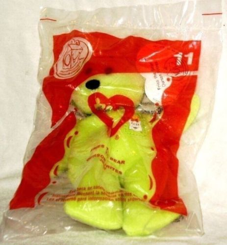 McDonalds 2004 TY Beanie Baby Fries Bear # 11 Original Package NEW