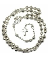 Rosary medium beads and cross on 925 solid silver - $76.29
