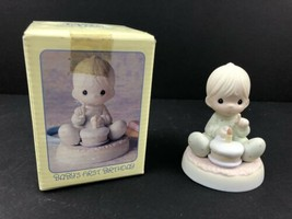 """1992 Precious Moments """"Baby's First 1st Birthday"""" 524069 Figurine, in Box - $16.84"""