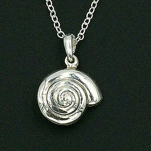 Primary image for Nautilus Shell Pendant Necklace Genuine Solid 925 Sterling Silver NEW