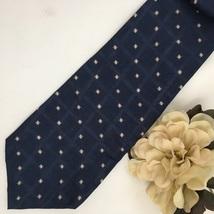 Pierre Cardin Blue & White Print men's silk business tie - $11.95