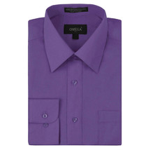 Omega Italy Men's Purple Dress Shirt Long Sleeve Slim Fit w/ Defect - XL
