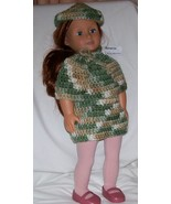 American Girl 3 Piece Outfit, Handmade, Crochet, Poncho, Skirt, Hat - $15.00