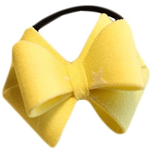 Fashion Hair Bands Bowknot Hair Rope Hair Accessories(Yellow)