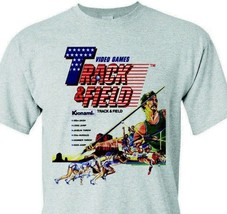 Track & Field T-shirt retro 1980's video arcade game distressed heather grey tee image 2