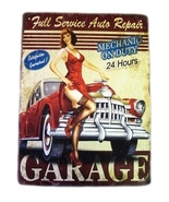 Full service auto repair metal sign red nfs 3 thumbtall