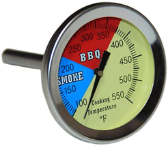 HYCO 3 550F 1-pack Grill and Smoker Thermometer Heat Indicator Temp Gauge - $11.29