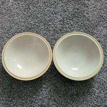 2 Hearthside Garden Festival Prairie Flowers Stoneware 6.5 Cereal Bowls Yellow - $13.99