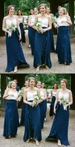 Spaghetti Strap Girls Wedding Bridesmaid Dress A Line Wedding Party Dres... - $89.66