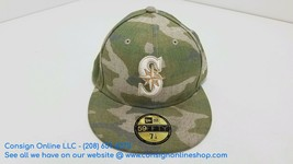 Seattle Mariners New Era MLB 59FIFTY Fitted Hat Camo Size 7 1/8 A685 - $20.31