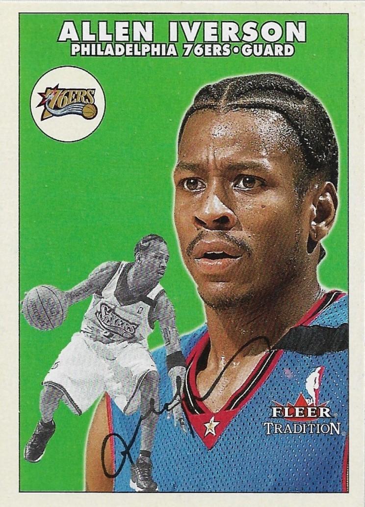 Allen Iverson Fleer 00-01 #152 Philadelphia 76ers Denver Nuggets Detroit Pistons