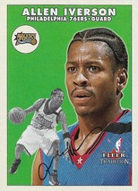 Allen Iverson Fleer 00-01 #152 Philadelphia 76ers Denver Nuggets Detroit... - $0.75