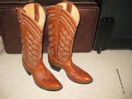 Tony Lama women's cowboy lizard skin boots, size 7 A - $46.77