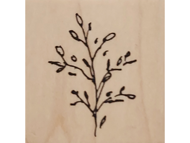 Judith Branch Wood Mounted Rubber Stamp #C-29