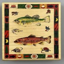 Fishing Lures Bass Trout Fish Large Inkadinkado Joy Marie 9069 Rubber Stamp - $24.74