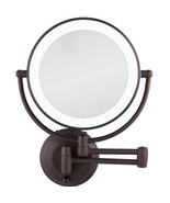 Zadro LEDW810 LED Lighted 10X-1X Round Wall Mounted Makeup Mirror, Oil-R... - $129.99
