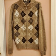 Merino Mink New Zealand knit fool zip sweater  - $42.00