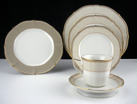 Noritake Golden Helix 6 pc Place Setting, New Unused Dinner Plates, Cup,... - $61.69