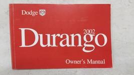 2002 Dodge Durango Owners Manual 52984 - $26.05