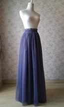 PURPLE Long Tulle Skirt Women High Waist Long Tulle Skirt Purple Wedding Skirt image 5