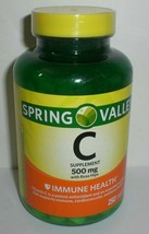 Spring Valley Vitamin C Supplement 500mg Rose Hips Immune Health 250 Tablets - $15.76