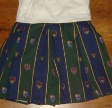 Ralph Lauren Chappel Crest Stripe Twin Bedskirt University RARE Navy Hunter - $39.57