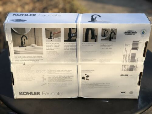 KOHLER Worth Single Hole Single-Handle Bathroom Faucet in Oil Rubbed Bronze NEW image 3