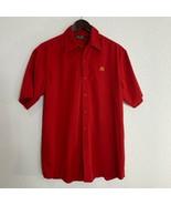 McDonalds Apparel Collection Employee Uniform Work Shirt Size Medium Red... - $18.81