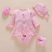 Newborn baby girls romper+hat+socks+headband clothes - $20.00+