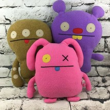 """Uglydoll Ugly Dolls Plush Lot Of 3 Stuffed Animals Collectible Toys 9""""-12"""" - $24.74"""