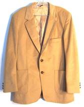 Sz Men's S - Vancourt Tan Blazer Microsuede (or Suede?) Suit Jacket  - $28.49