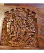 "New In Box Wooden Carved Ganesh Tarot Box Wicca Pagan 4"" X 6"" inchs Jewe... - $23.76"