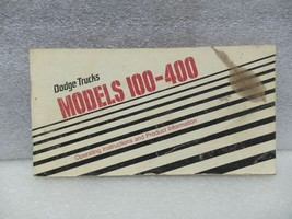 DODGE TRUCK 100 200 300 400 1977 Owners Manual 16526 - $18.76