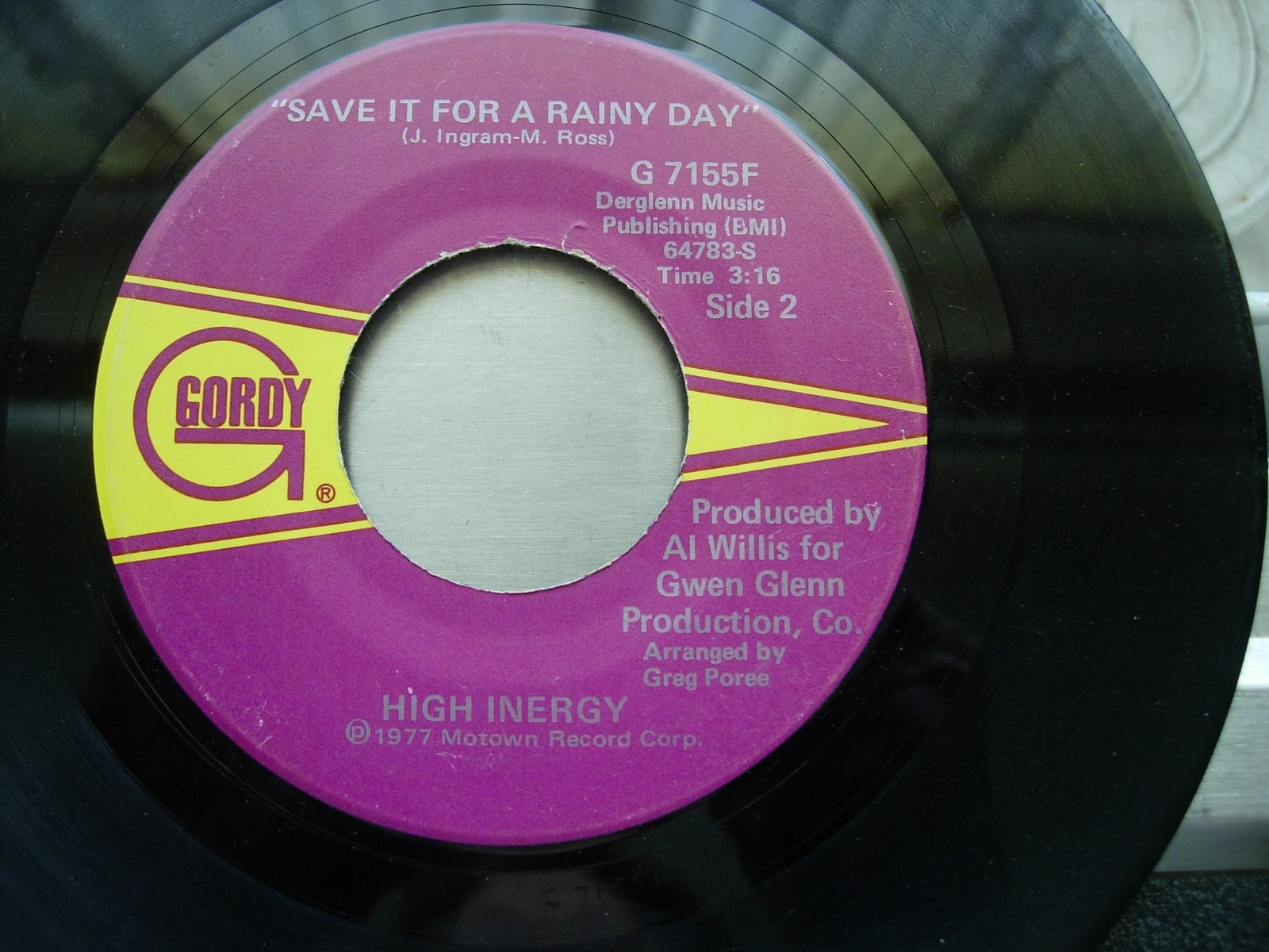 High Inergy- You Can't Turn Me Off / Save It For A Rainy - Gordy G-7155F