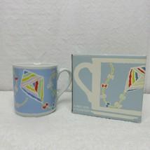 Vintage 1985 Hallmark Coffee Mug Kites Spring Fever New in Box No Coaster  - $14.80