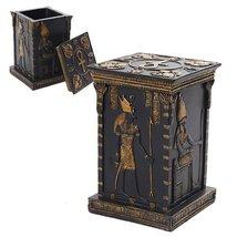 Egyptian God Mystical Vertical Jewelry/Trinket Box with Lid Figurine - $27.46