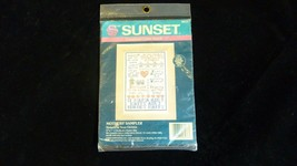 Vintage Nip Mothers Sampler Sunset Counted Cross Stitch Kit 1990 Dimensions - $19.75