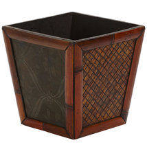 Bamboo Square Decorative Planters (Set of 4), Nearly Natural image 2