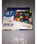 Genuine New Sealed OEM Epson 87 (T087220) Cyan Ink Cartridge; Exp: 02.2019 - $7.69