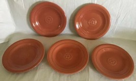 "Oneida Petals 8"" Salad Luncheon Plates Terra Cotta Set of 5 Dessert Plate Unused - $29.69"
