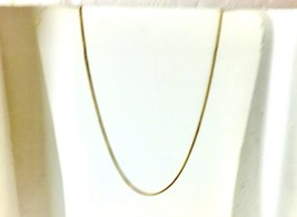 18 K Yellow Gold And Silver Popcorn Chain 20 inches long - $48.39