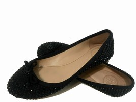 Tory Burch Beaded Sequined Bow Ballet Flats Black Size 5.5 - $109.40