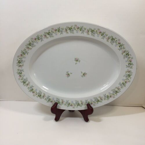 "Primary image for Oval Serving Platter 15"" x 11"" Forever Spring Johann Haviland Barvaria Germany"