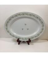 """Oval Serving Platter 15"""" x 11"""" Forever Spring Johann Haviland Barvaria G... - $38.69"""