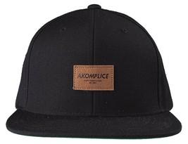 New Akomplice Black Flamingo Mob Est. 2004 Label Patch Snapback Baseball Hat image 1