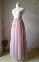 DUSTY PINK High Waisted Long Tutu Skirts Full Length Bridesmaid Tulle Skirts NWT image 6