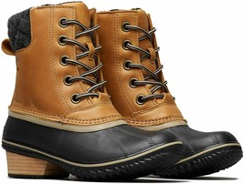 Women's Shoes 5.5 Sorel SLIMPACK II LACE Winter Boots 1702251286 ELK BLACK TAN - $88.81